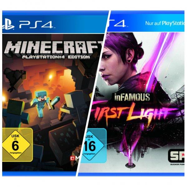 [Saturn.de] Infamous First Light & Minecraft - PS4 für je 10€ kostenloser Versand