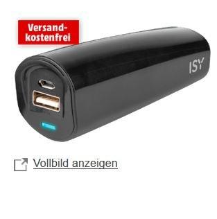 [MediaMarkt] ISY Powerbank 2.200 mAh IAP-1000, schwarz 4€