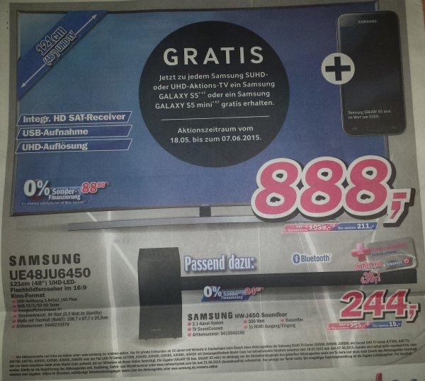 [Lokal Telepoint] Samsung UE48JU6450 + S5 Mini für 888 Euro