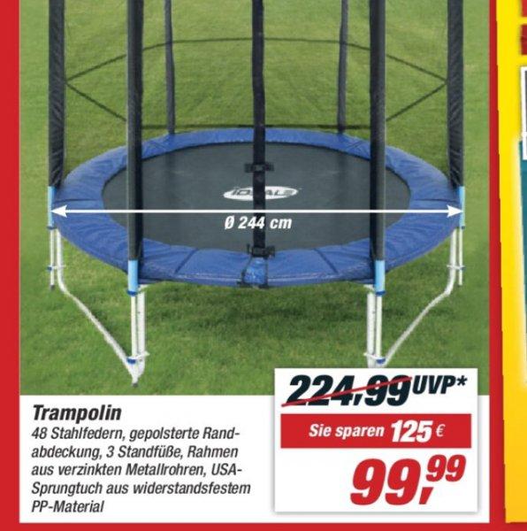 Trampolin bei Toom Baumarkt 99,99€