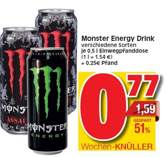 KW 22 Marktkauf / EDEKA Hessen Monster Energy Drink 0,5 Ltr für wirklich gute 0,77€