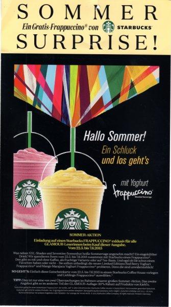 STARBUCKS - Frappuccino gratis durch Kauf der aktuellen Glamour Zeitschrift (Ausgabe Juni 2015)
