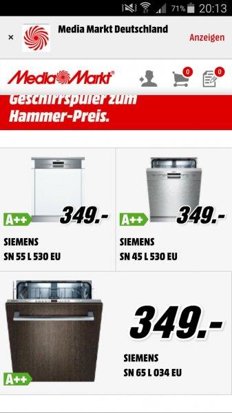 Siemens SN45L530EU Geschirrspüler Media Markt