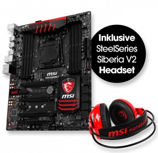 MSI X99S Gaming 7 Mainboard inkl. Steel Series Siberia Gaming Headset für 269€ (Arlt)