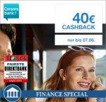 [Qipu] 40€ Cashback + 1,00% Zinsen für Consorsbank Tagesgeld-Konto, Neukunden