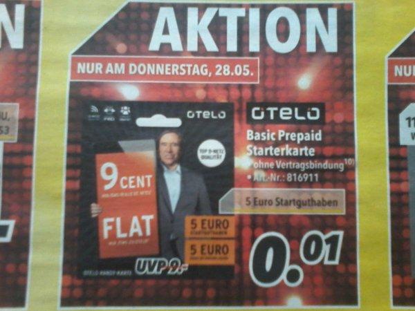 otelo Prepaid Starterkarte für 0,01€  MEDIMAX
