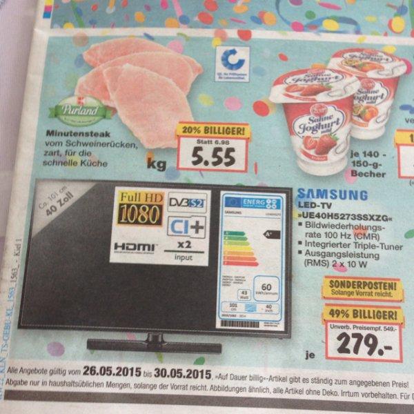 [Kaufland Kiel] Samsung ue40h5273 für 279€