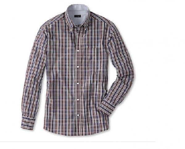 Tchibo: Freizeithemd blau-braun kariert in Größe M bis XL für 11 Euro bei Filiallieferung