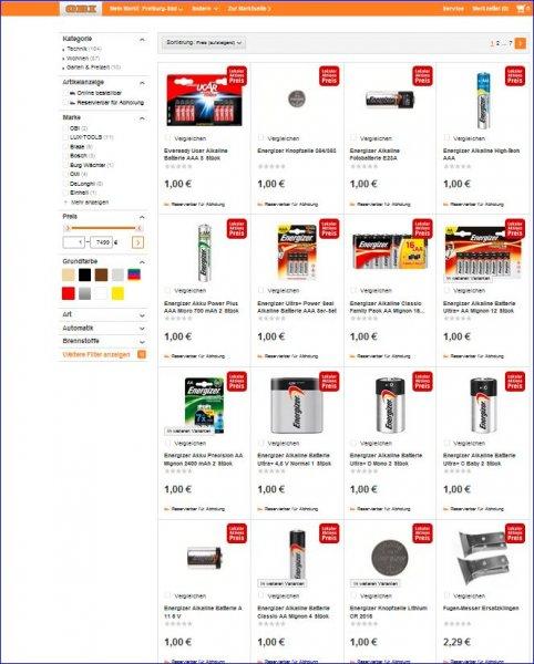 [Local OBI Freiburg-Süd] Batterien im Super-Angebot