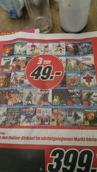 [Lokal Halstenbek] Media Markt 3 für 49 PS4