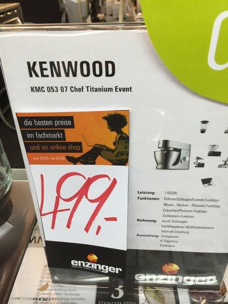 Küchenmaschine Kenwood KMC 053 + jede Menge Zubehör; 499€ @Enzinger.com; mind. 15% Rabatt!