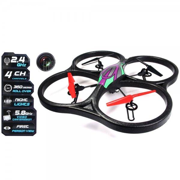 WLtoys V666 FPV + RTF 6 Axis 2.4G RC Quadcopter + HD Kamera für 91,72€ @Gearbest - nur 50 Stück verfügbar!