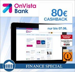 [QIPU]  80€ Cashback für deine Depoteröffnung bei der OnVista Bank + KWK?