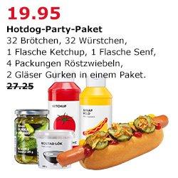 Wenn´s für´s Grillen zu nass und kalt ist: 2x IKEA Hot Dog-Paket für 34,90 €