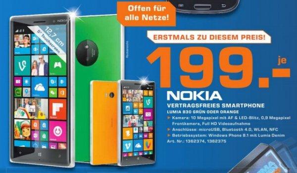 """Nur für Österreich...Lokal Saturn /Columbus Center Wien.....Nokia Lumia 830, Windows Phone, GSM/UMTS, 4G LTE, 16GB, 5"""", Grün und Orange zum Bestpreis von 199,-€"""