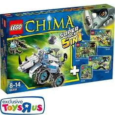LEGO Legends of Chima - 66491 Super-Pack 5 in 1 bei Toys R us für 59,98€ (54€ mit Payback)