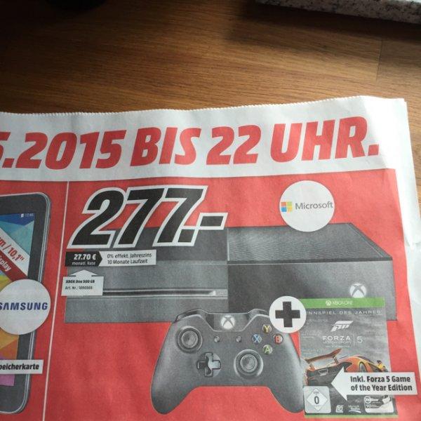 [lokal MM Rhein-Neckar] XBOX One 500 GB + Forza 5 Goty