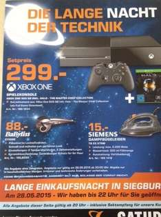 Saturn Siegburg: Xbox One mit Halo Master Chief Coll für 299€