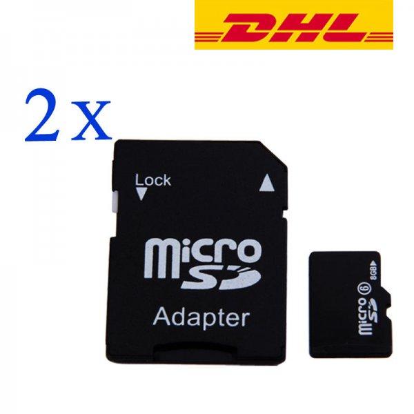 2 x 8GB Micro SDHC Karte Class 6 mit Adapter inkl. vers. DHL-Versand für 5,99.- (Ebay)