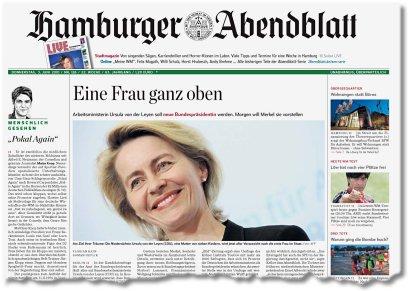 [Lokal Hamburg/ Umland] 4 Wochen Hamburger Abendblatt als Papierausgabe selbstkündigend