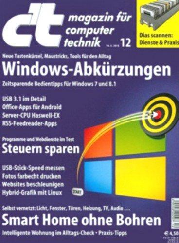 6x c't Heft + Digital + Online Archiv für 21,30€ mit 20€ Amazon Gutschein