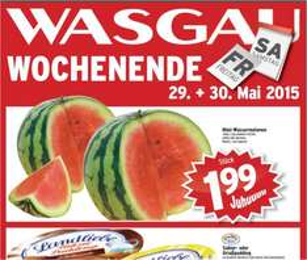 WASGAU: Wassermelone > 1,99 Euro (Stück) - mind. 2 Kg