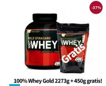 Optimum Nutrition 100% Whey Gold 2,27 KG + 450G GRATIS inkl. VSK für 41,17€ @vitafy