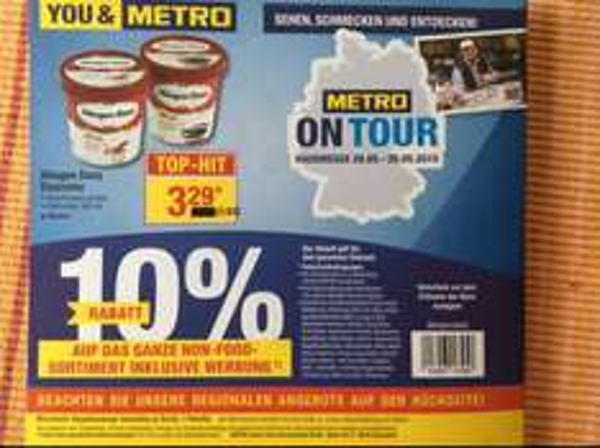 Häagen Dazs Eis 500 ml  bei Metro in Neuss 3,52€ inkl. MwSt .