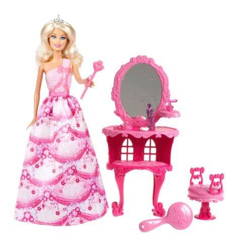 [Amazon-Prime] Mattel Barbie  Prinzessin und Kosmetiktisch, Puppe mit Zubehör
