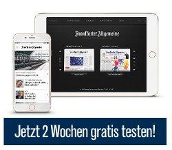 F.A.Z. und Sonntagszeitung für 2 Wochen kostenlos testen , kein Abo , endet automatisch.