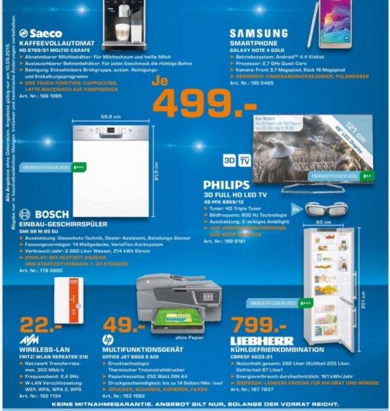 Jetzt aber! [Saturn Troisdorf/lokal am Sonntag] Samsung Galaxy Note 4 Gold