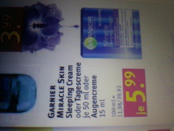 Rossmann*GARNIER Miracle Sleeping/Tagescreme* 5,99€