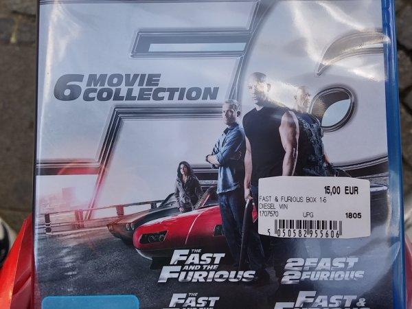 [Lokal Berlin-Wilmersdorf] Fast & Furious 1-6 Blu-Ray für 15 € im Media Markt