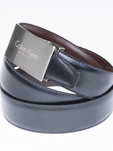 [eBay WOW Tagesdeal] CALVIN KLEIN Wendegürtel in schwarz / braun - Echtleder - verschiedene Gürtelschnallen