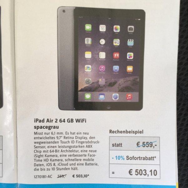 [conrad offline] iPad Air 2 64GB Wifi