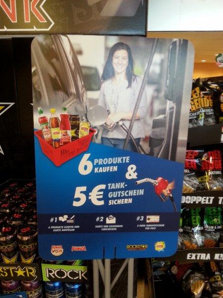 [Punica, Rockstar Energy, Lipton] 6 Produkte kaufen, 5€ Tankgutschein erhalten