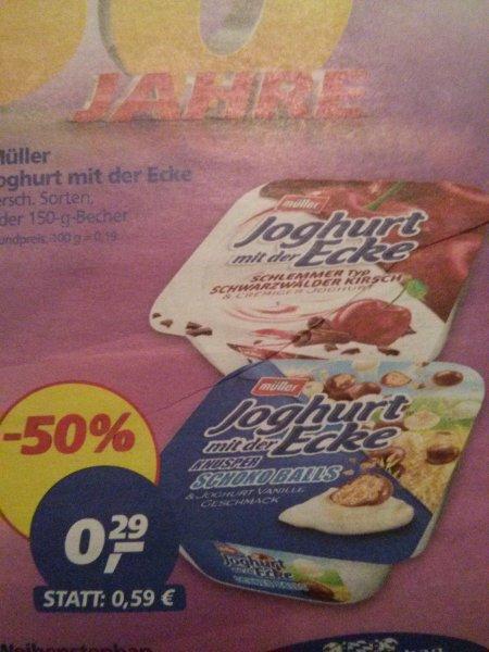 Müller Joghurt mit der Ecke - REAL 0,29€