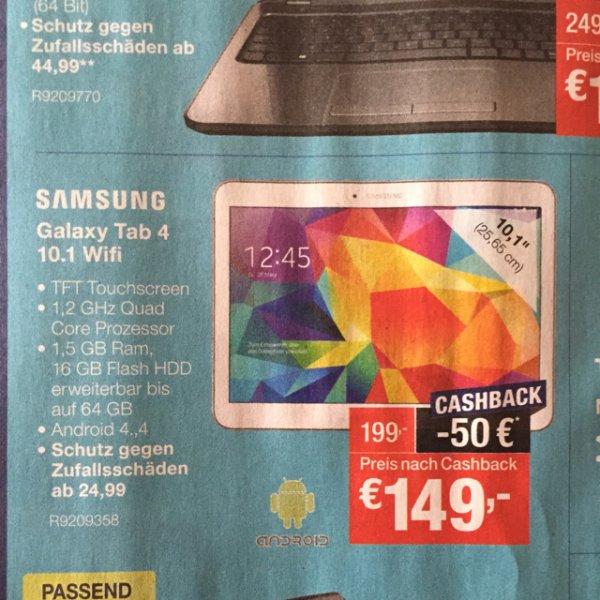 Cashback bei Staples... Z.b Samsung Galaxy 4 10.1 (149€) oder Tab 3 7 Z (74€)