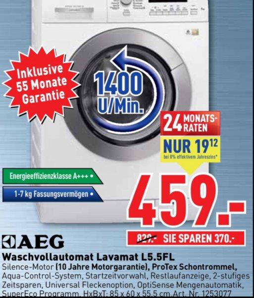 [Lokal ] Dodenhof AEG Lavamat L5.5FL 459 Euro  55 Monate Garantie