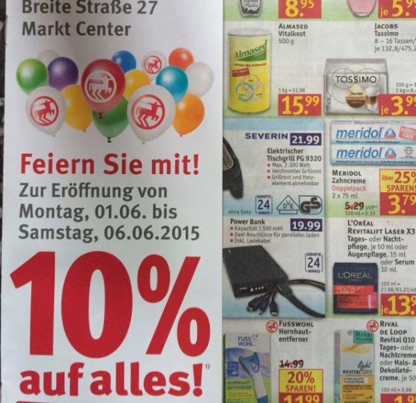 [Lokal Potsdam] 10% auf alles bei Rossmann im Markt Center vom 01.06. bis 06.06.15