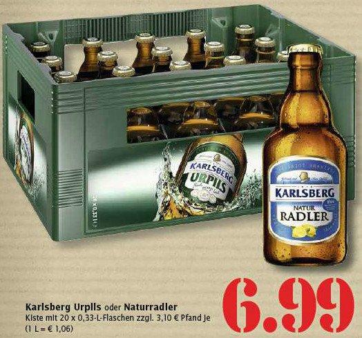 [lokal] Karlsberg Urpils oder Naturradler 20 x 0,33l 6,99€ + Pfand @Marktkauf Trier