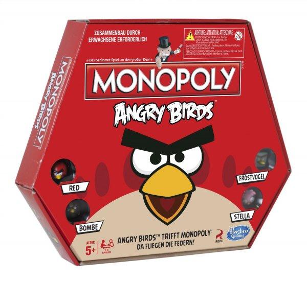 Hasbro Monopoly Angry Birds A9342100 (2-6 Spieler, ab 8 Jahren) für 9,00€ @Real.de