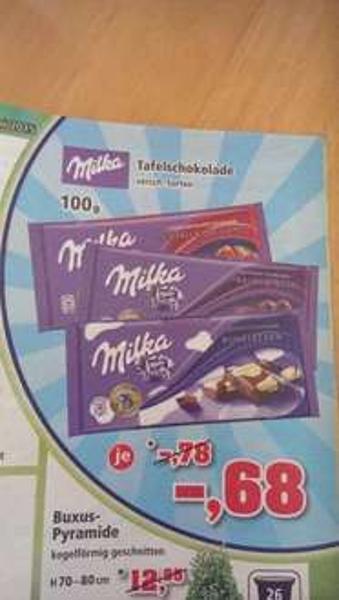 THOMAS PHILIPPS - MILKA versch. Sorten Tafelschokolade je 0,68 € [lokal?]