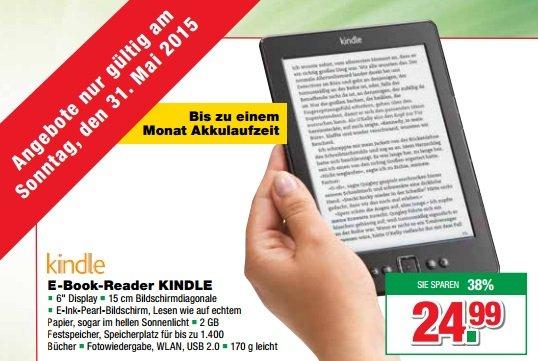"""[lokal Handelshof Güstrow, nur für (Groß)Kunden] Kindle E-Book-Reader 6"""" für ~22,50€ netto am 07.06.2015"""