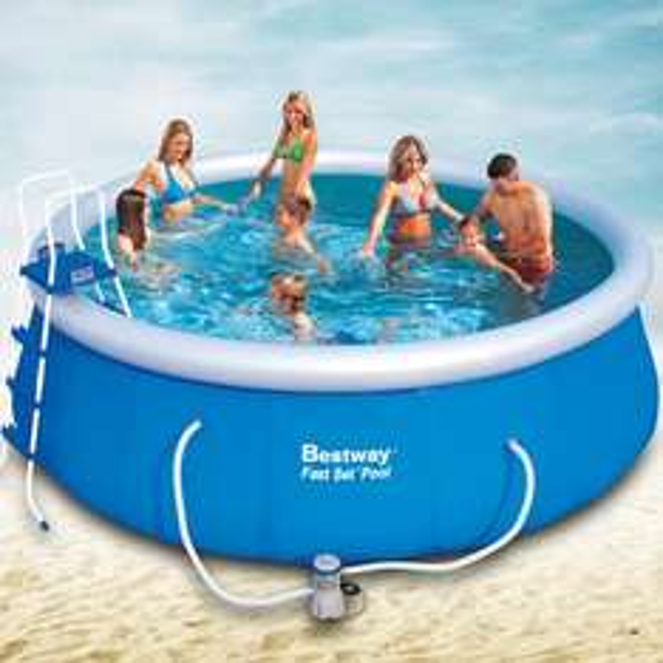Bestway Swimming Pool Fast 457x122 cm mit Pumpe, 193,90 EUR @ miganeo