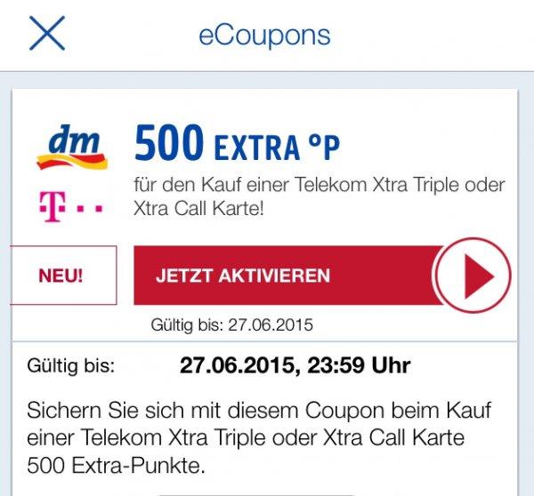 Bei DM 3x500 Paybackpunkte mit Xtracard wieder möglich