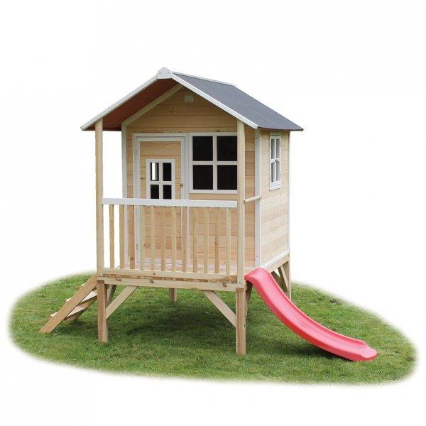 Exit Loft 300 Naturel Spielhaus Holz Haus auf Stelzen Rutsche Leiter, 446,45 EUR @ athleteshop