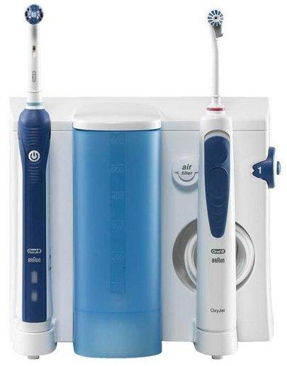Braun Oral-B Professional Care, Mundpflege Center 3000 (Munddusche, Professional Care 3000, 4x OxyJet + weitere Bürsten) für 76,98€, @getgoods