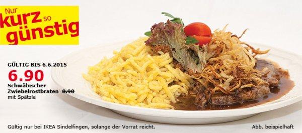 [Lokal IKEA-Restaurant Sindelfingen] Schwäbischer Zwiebelrostbraten mit Spätzle 6,90 € statt 8,90 € + Nachtisch!
