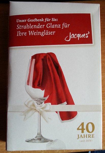 [JACQUES' WEINDEPOT] Gratis Tuch zum Polieren von Weingläsern